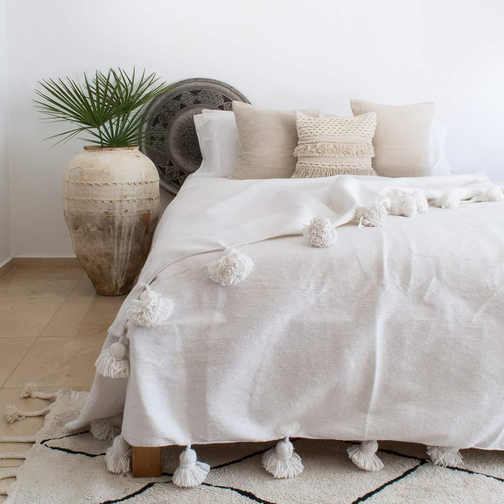 Our Neige Blanket Is Beautifully Handcrafted In Morocco Using Traditional Hand Weaving Techniques Made In Sofa Throw Blanket Large Throws For Sofas Sofa Throw