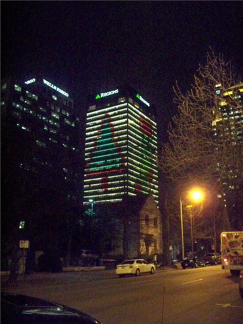Birmingham Christmas Lights.Region S Annual Christmas Lighting In Downtown Birmingham