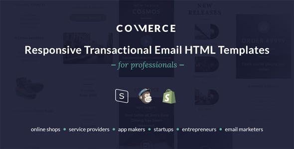 Commerce Responsive Transactional Email HTML Templates Email - Responsive transactional email template
