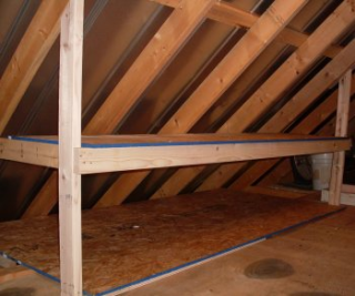 9 Tricks To Turn An Unfinished Attic Into A Practical Storage Space Garage Attic Storage Attic Storage Attic Renovation