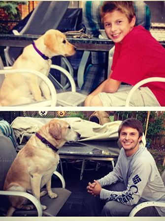 15 heartwarming photos of dogs  their humans growing up
