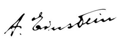 Albert Einstein S Signature Autografos Grafologia Firma
