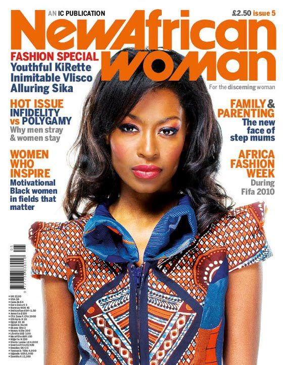 July Rodgriguez on the cover of New African Woman.