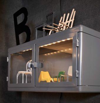 nahaufnahme von r skog wandschrank in dunkelgrau glas ikea pinterest kids rooms and room. Black Bedroom Furniture Sets. Home Design Ideas