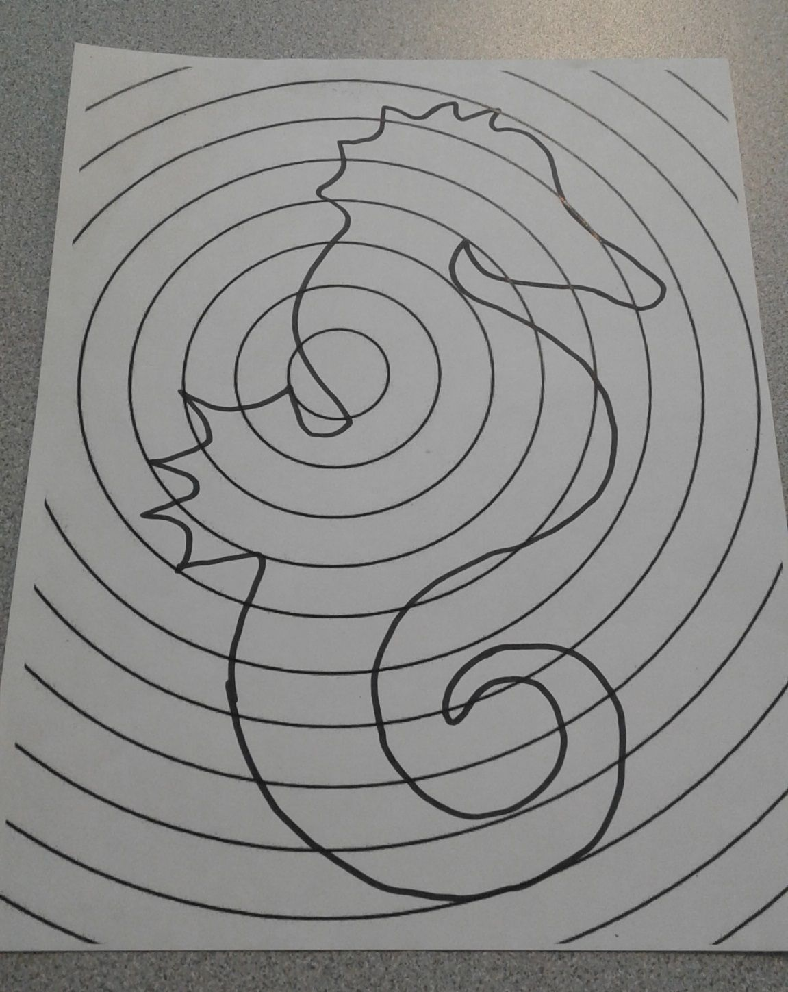 Concentric Circles Marker Design In