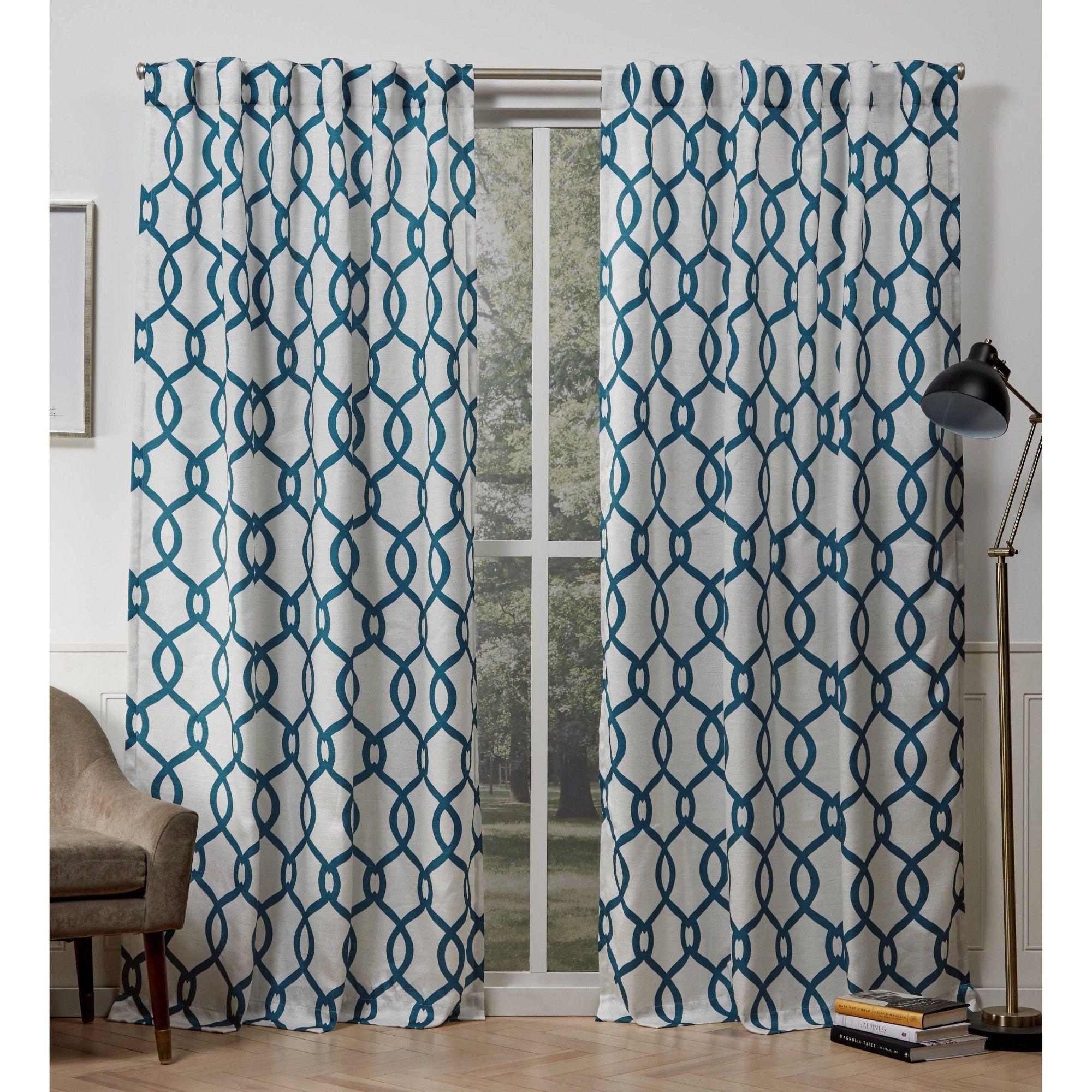54 X96 Kochi Back Tab Light Filtering Window Curtain Panels Teal