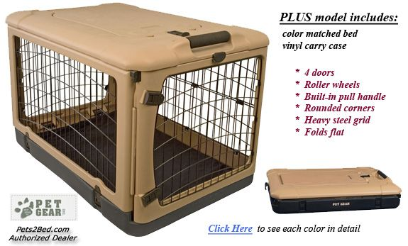 Image For Collapsible Dog Crate Portable Plastic Dog Crate