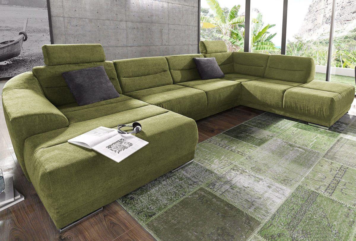 Wohnzimmer grün ~ Sit more wohnlandschaft grün ottomane rechts fsc zertifiziert