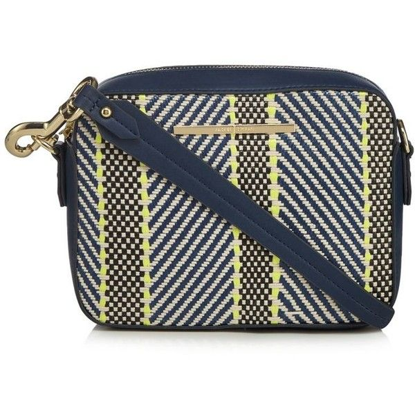 J by Jasper Conran Navy textured stripe cross body bag ( 35) ❤ liked on caeb74aae5bc8