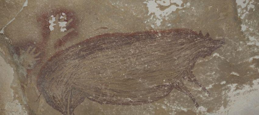 Este es el el arte rupestre más antiguo del mundo, calculado en 45.500 años de antigüedad