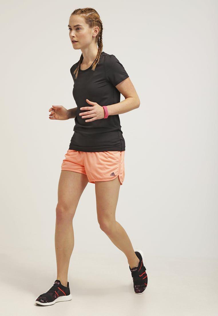 Adidas Performance Krotkie Spodenki Sportowe Sun Glow Zalando Pl Adidas Performance Running
