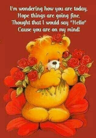 """""""Thinking Of You"""" Big Hugs Card - With Sympathy, Get Well ... 