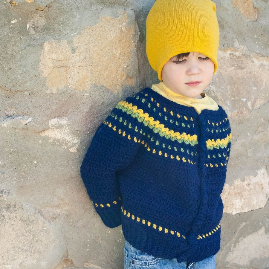 Boy fair isle style crochet sweater pattern no 9 crochet boy crochet sweater pattern fair isle style permission to sell finished items 400 bankloansurffo Choice Image