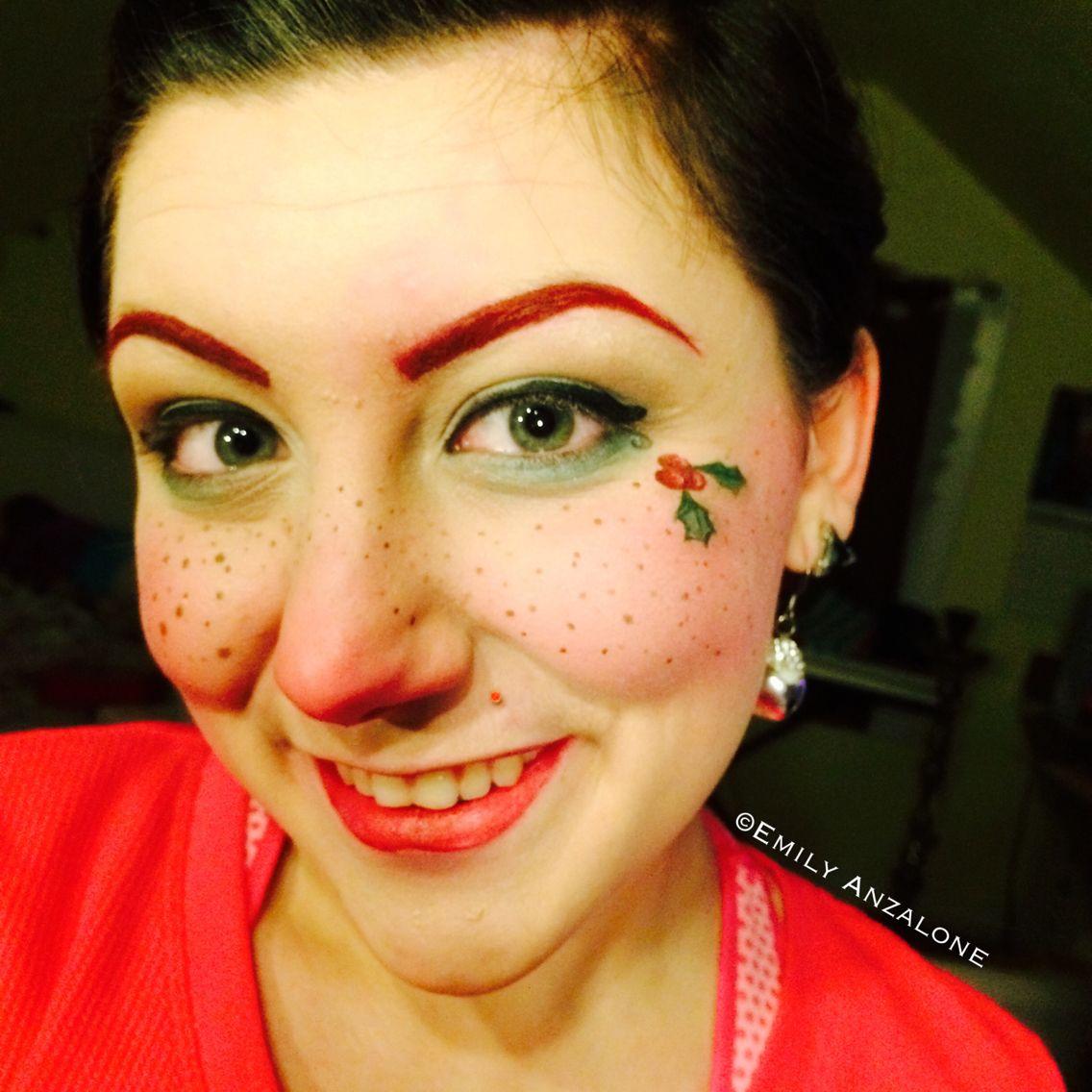 Elf makeup Christmas freckles face paint www