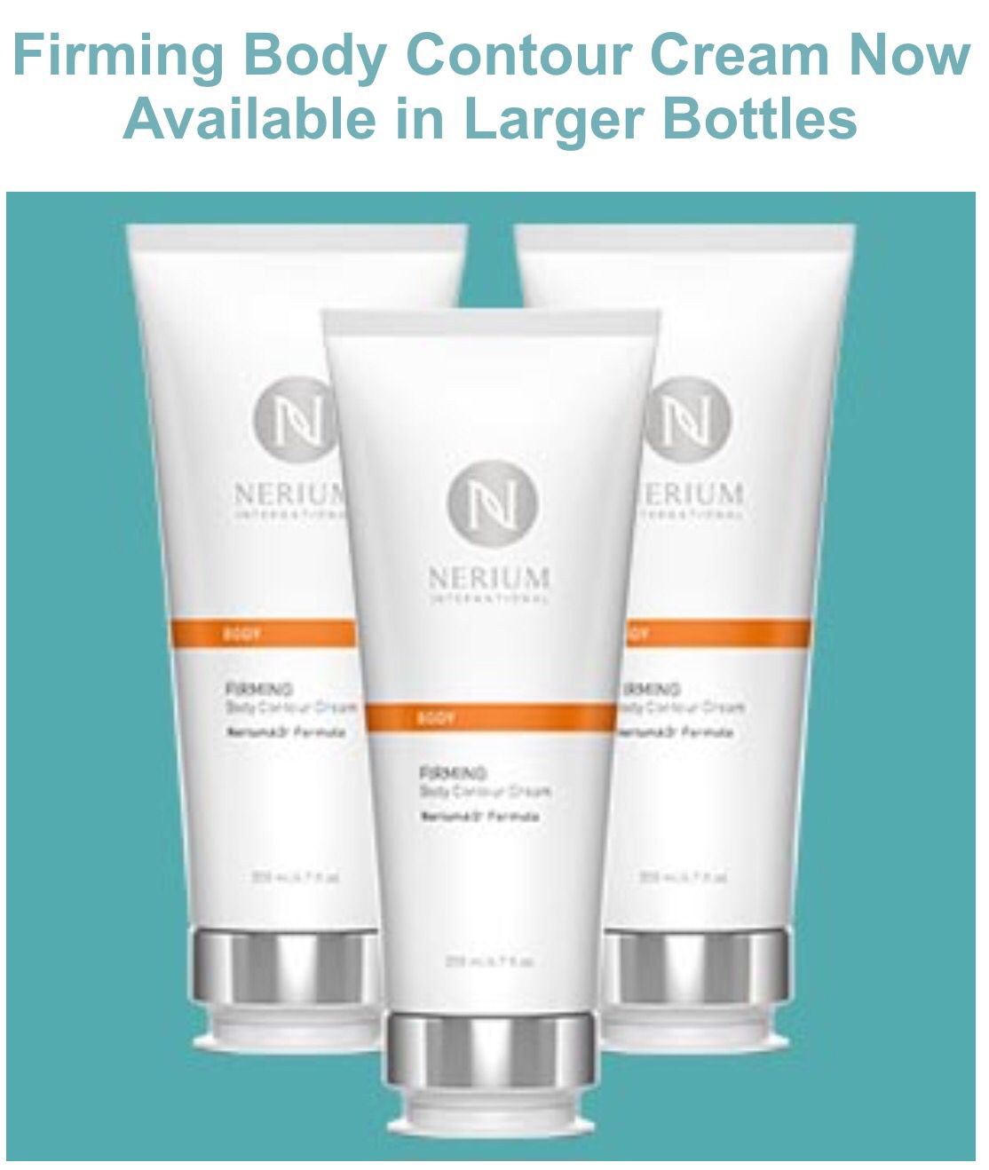 The BEST body contouring cream on the market just got BETTER. New larger size of this breakthrough product from #Nerium International. check out my website. www.mainlyretrobeauty.theneriumlook.com