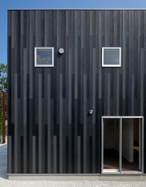 Vertical Cedar Siding N House By Tofu Architecture Facade Design Architecture Design