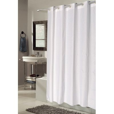 Ben And Jonah EZ ON Checks Shower Curtain Color White