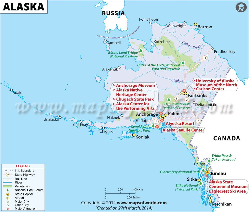 Alaska Map for free download and use The map of Alaska known as