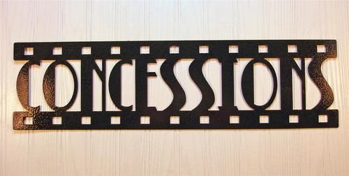 Metal Wall Art Home Theater Decor Concessions Film Metal wall