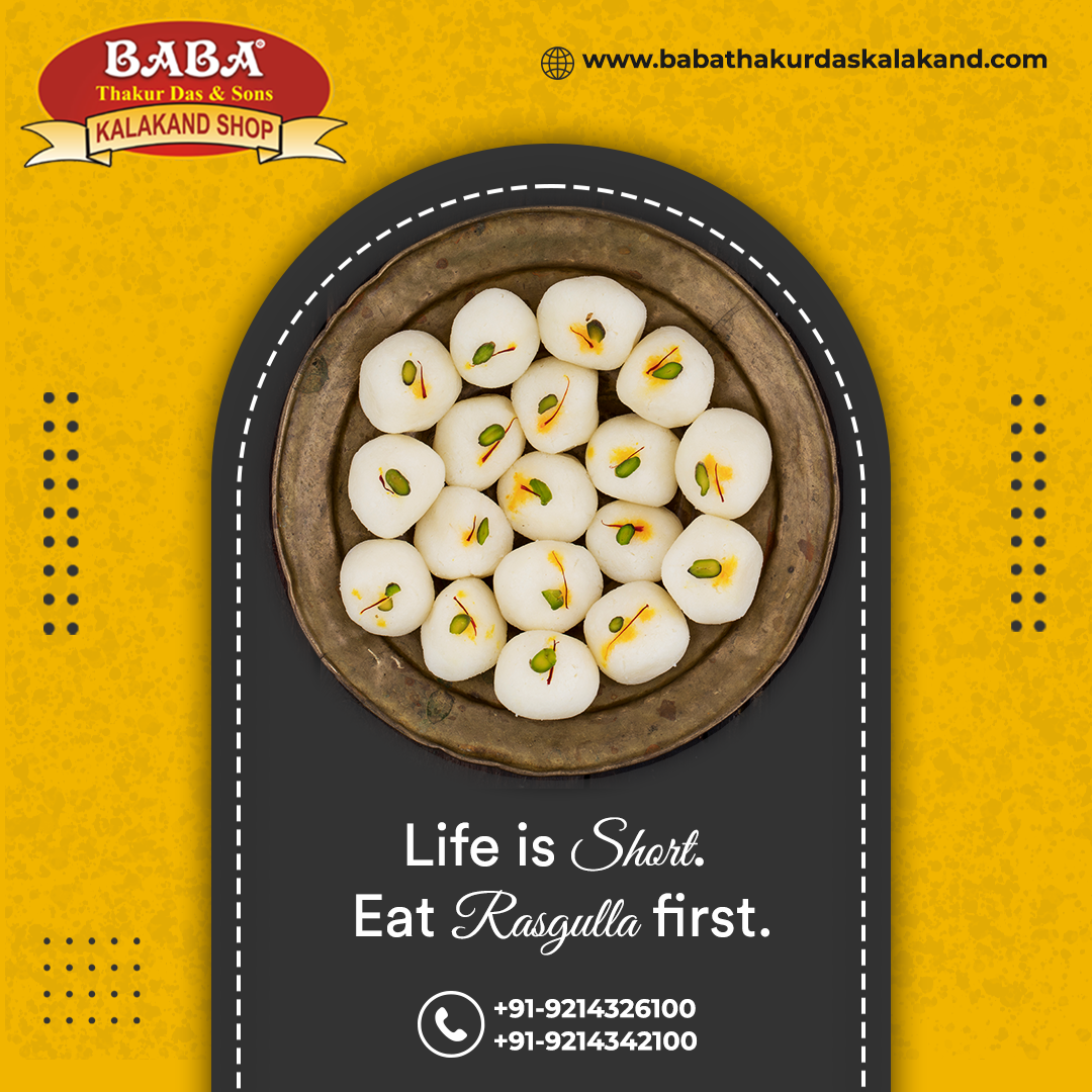 """Rasgulla """"In Every Bite You Will Surely Get Exotic Delight… Try Now"""" 😋📞Contact Us - +91-9214326100, +91-9214342100 #sweetdish #sweettooth #sweetshop #Rasgulle #delicious #yummyfood #babathakurdasandsons #dessert #sweets #indiansweets #foodies #foodlover #indiandessert #sweettreats #sweetdish #sweetdishes #treatyourself #indianfood #foodiesofinstagram #foodislove #cravings"""