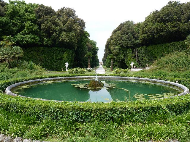 The Royal Palace of Caserta (Italian: Reggia di Caserta) is a former royal residence in Caserta, southern Italy, constructed for the Bourbon kings of Naples. The garden, a typical example of the baroque extension of formal vistas, is inspired by the park of Versailles, but it is commonly regarded as superior in beauty.