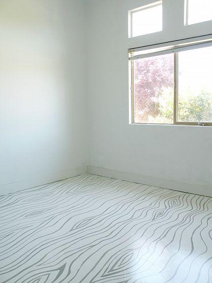 Faux Bois painted floor #DIY