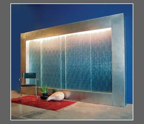 Blue Indoor Water Wall Fountain Indoor Fountains Walls Of Water Pinterest Fountain