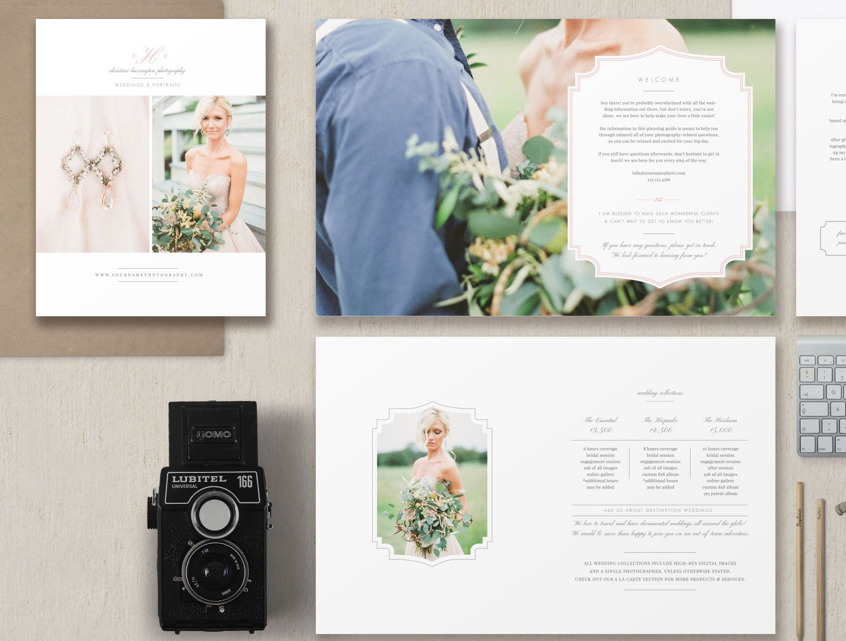 New Client Studio Welcome Packet Wedding Magazine Template Bridal Guide For Professional Photographers