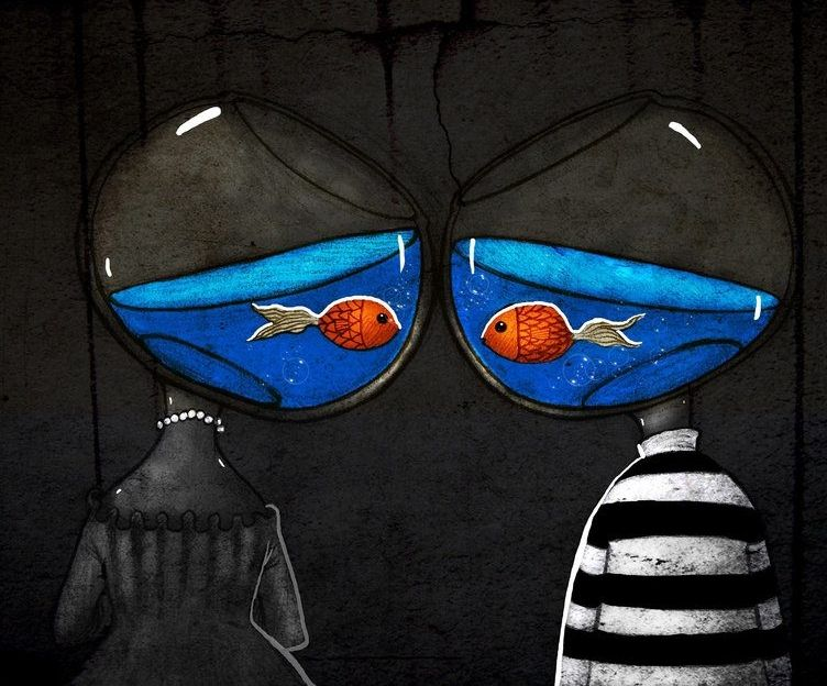 Were just two lost souls swimming in a fishbowl meaning