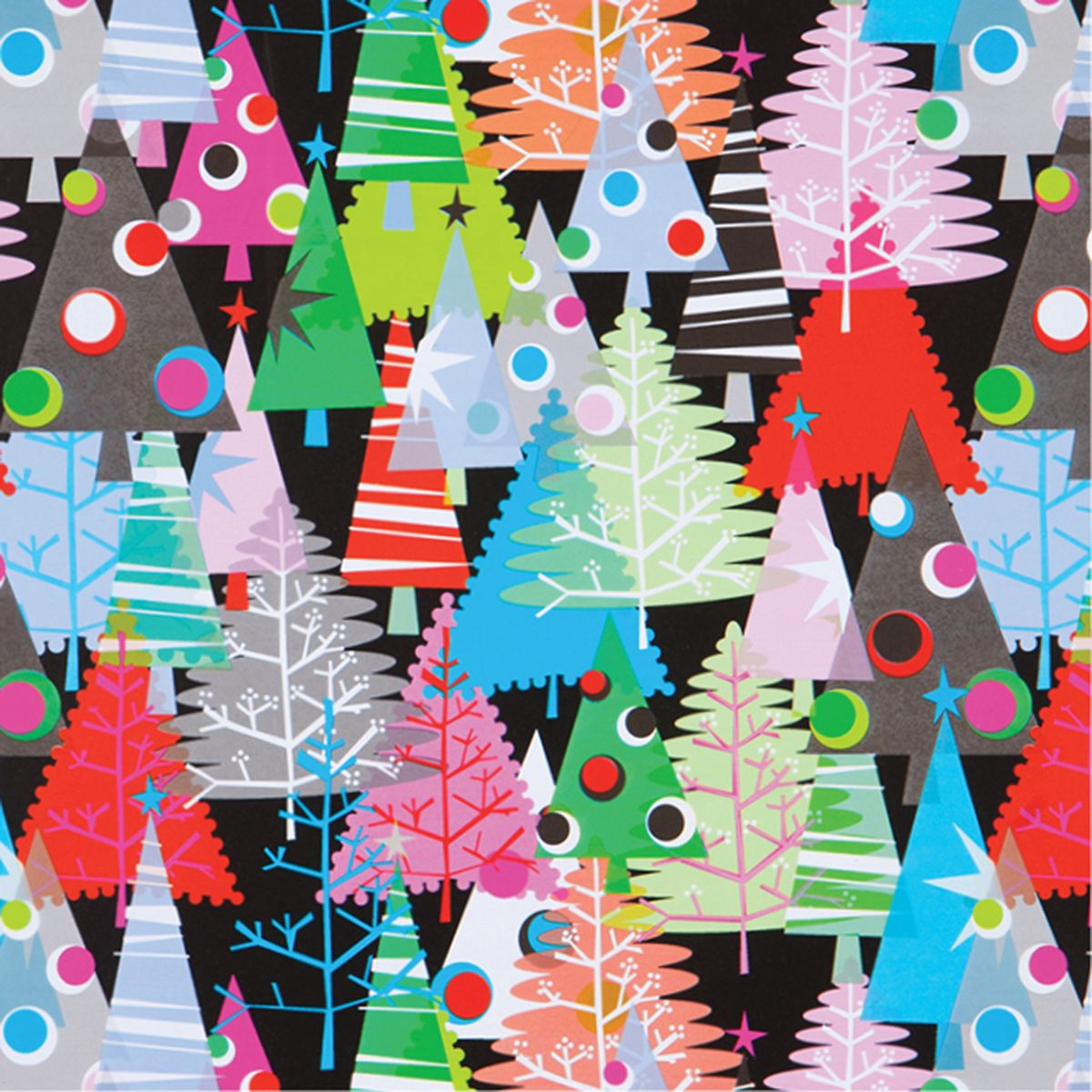 neon christmas trees | Best Christmas Gift Wrap Deigns | Pinterest ...