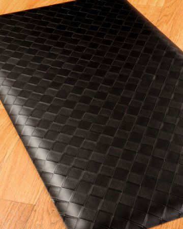 Amazon Com Fiore Anti Fatigue Mat 20x36 Black Reduces Discomfort On Back Feet And Joints Durable And Stai Anti Fatigue Mat Area Rug Pad Natural Area Rugs