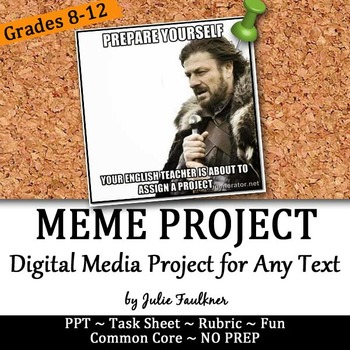 Meme Project For Modern Text Based Fun With Literature Media Any Text Teaching Memes Literature Project Teaching Literature