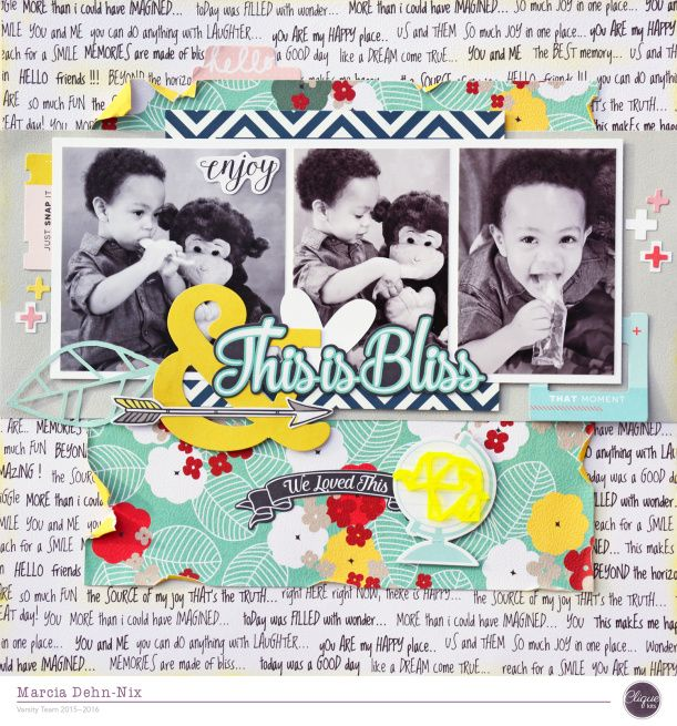 This Is Bliss scrapbook layout created with the January Clique Kit featuring the…
