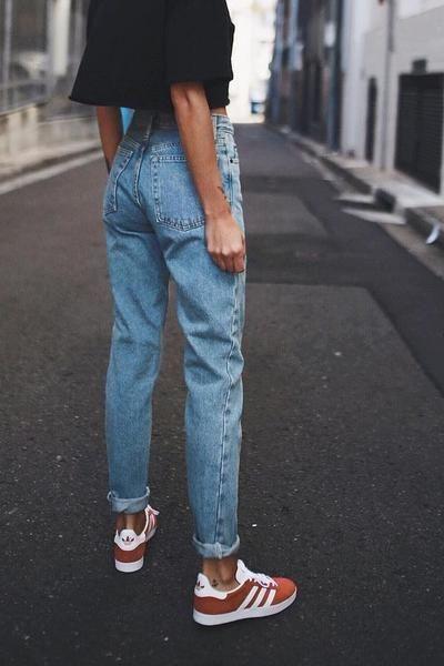 80 Retro Simple Mom Jeans