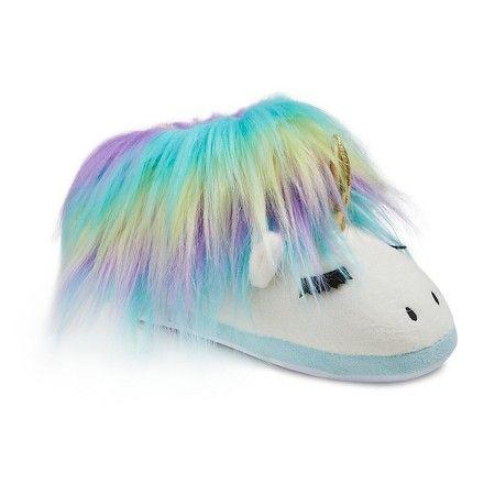 dd371c2b17ba Women s Unicorn Microfleece Slide Slippers - Xhilaration™   Target ...