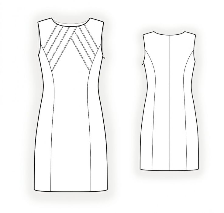 Dress With Decorative Bodice Sewing Pattern 4347 Diki