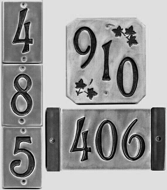 Decorative Tile House Numbers Pin~ Allana ~ On ~ Pick A Number ~  Pinterest