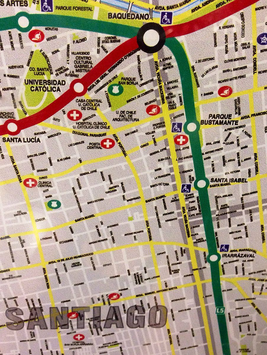 Subway Map In Chile.In Chile Looking At The Santiago Subway Map I Saw The Small
