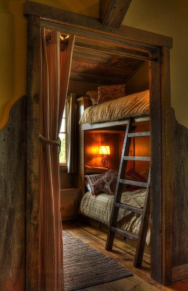 Rustic Cabin Bedroom love the double