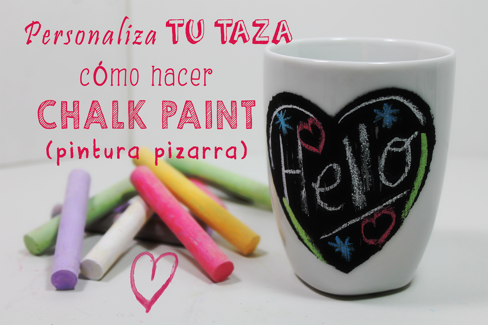 Hacer Pintura Chalk Paint Taza Decorada Con Chalk Paint Pintura Pizarra Tutorial