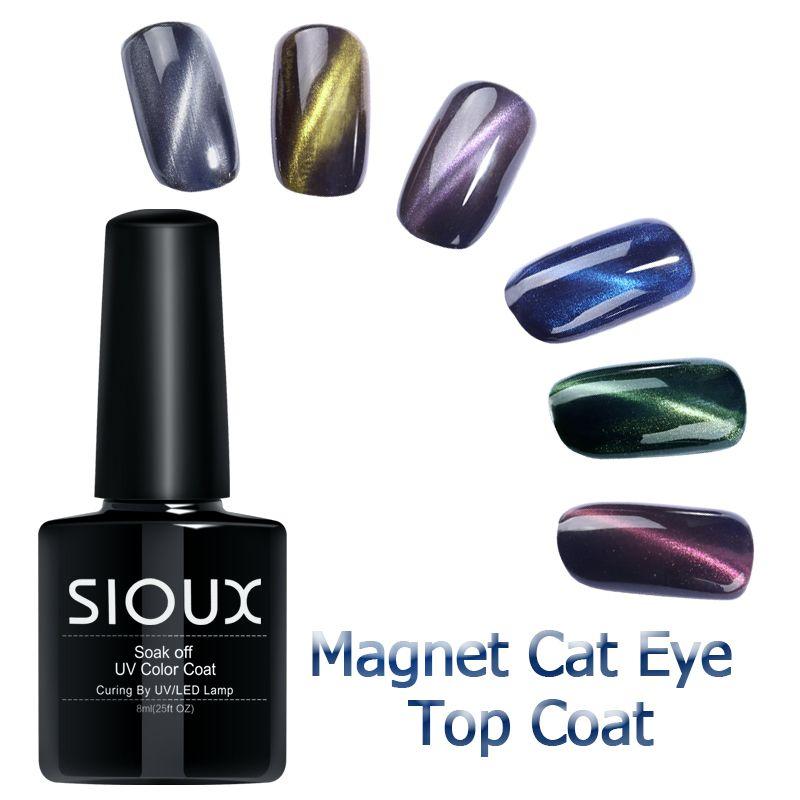 Sioux 8 ml más reciente polaco empapan ojo de gato gel de capa ...