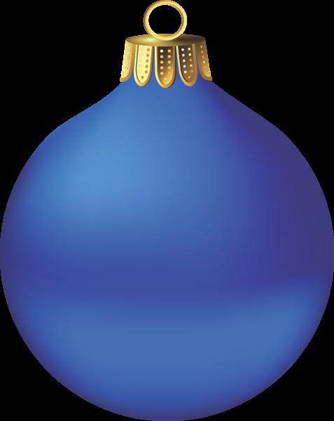 transparent christmas blue ornament