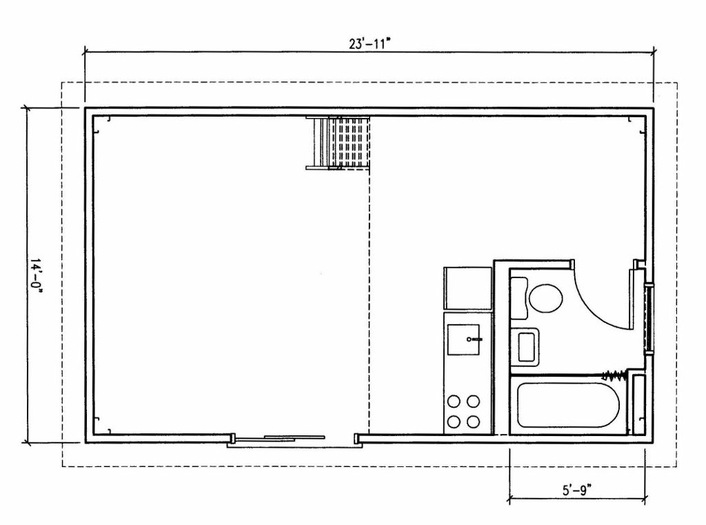 V's Bedroom. Half wall about bar height and open to BR wide enough for rods for hanging clothe and shoes on bottom - 71/2' long. leaving opening on N side.  Queen bed with two side tables and a tallboy dresser at foot of bed for folding things. BR TV on top of highboy.  Corner shelves in NW corner for boots and purses.