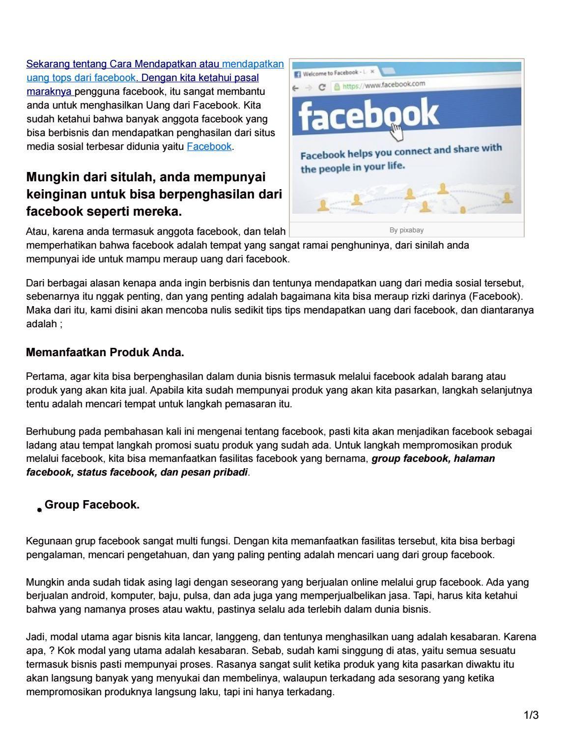 Topa nih tentang cara menghasilkan mendapatkan uang dari facebook topa nih tentang cara menghasilkan mendapatkan uang dari facebook stopboris Choice Image