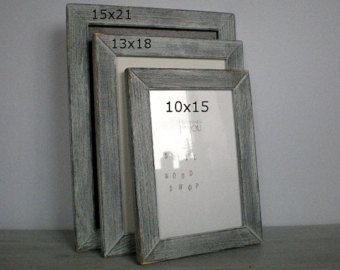 Photo Frame Wood Frame 15 X 21 Cm Choose Colors Delicate Frame Solid