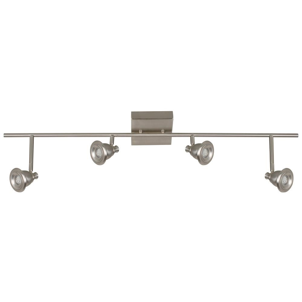 Satin Nickel Integrated LED Contemporary 4-light Track Ceiling
