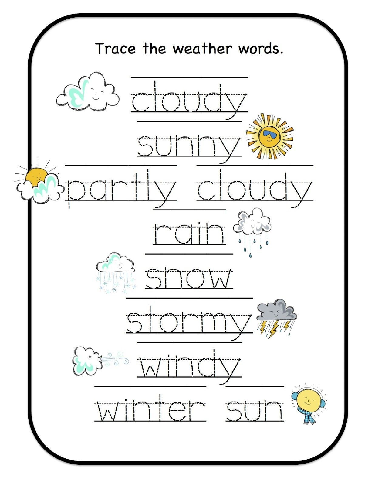 Labeling Worksheets For Kindergarten Worksheet For Kindergarten Weather Worksheets Teaching Weather Preschool Weather