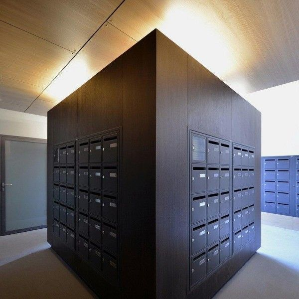 Post Box In Modern Apartment For Students Characterized In Dynamic Beauteous Mailroom Furniture Exterior