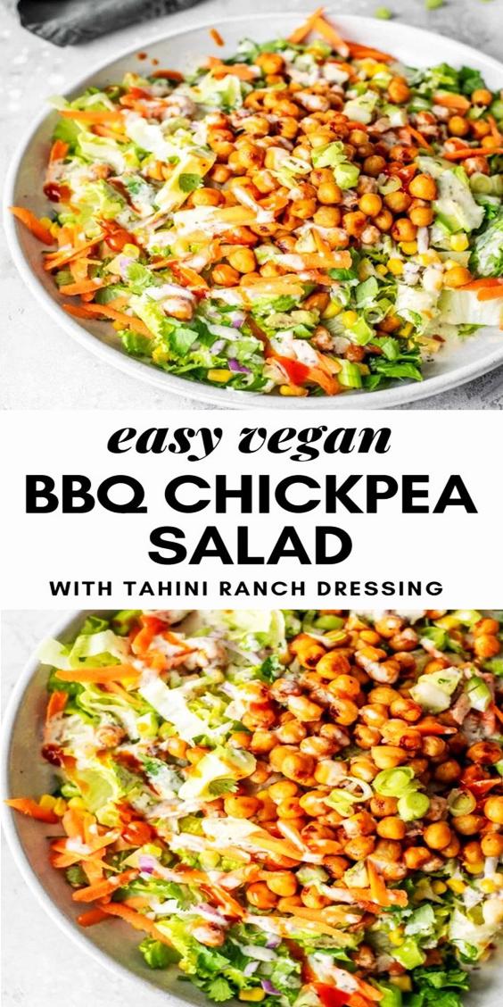 Vegan BBQ Chickpea Salad Recipe