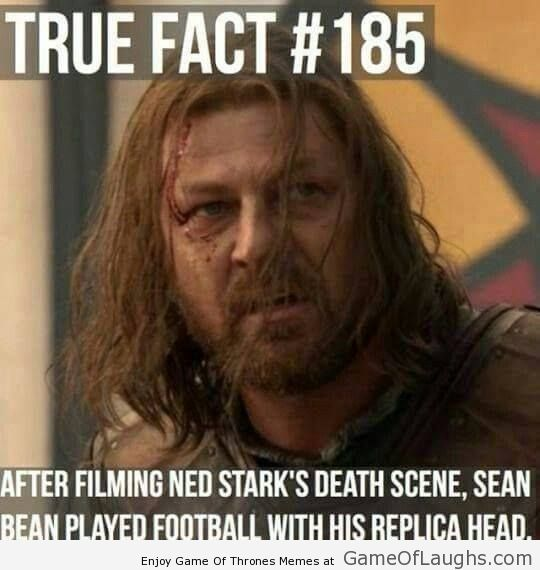 Game Of Thrones Ned Stark Fact Game Of Thrones Facts Got Game